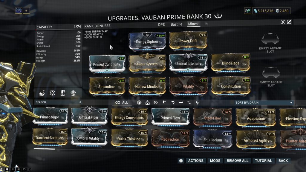 The Mines Vauban Prime Build