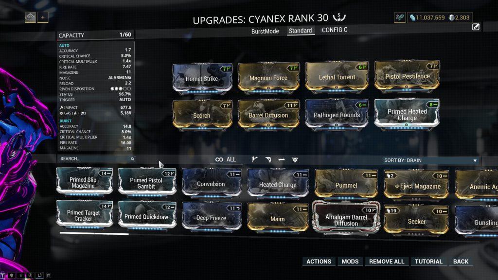 Standard Cyanex Build