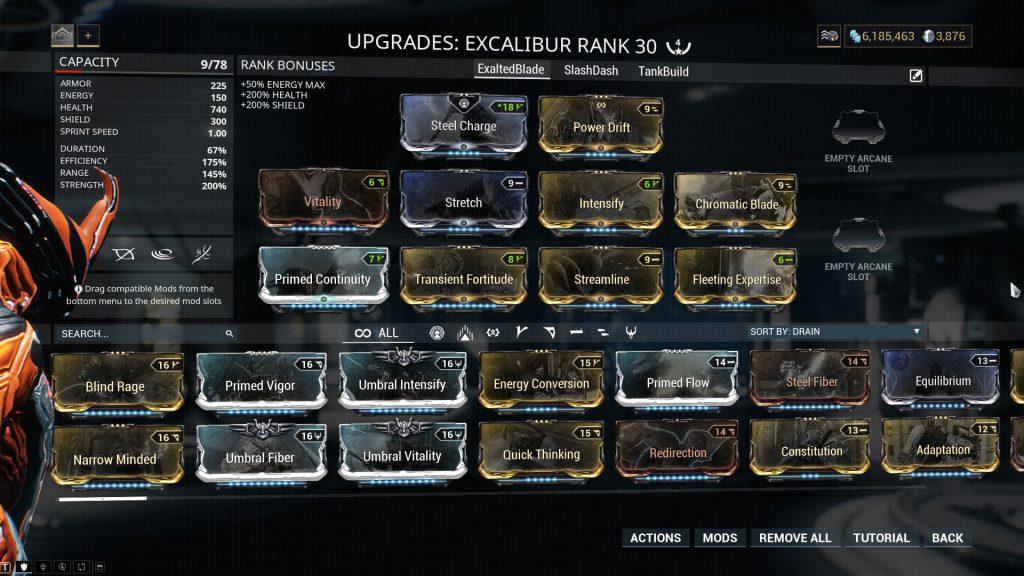 Excalibur Standard Build