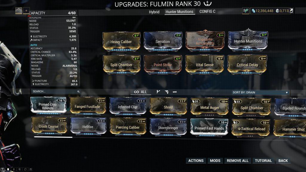 Fulmin Hunter Munitions Build