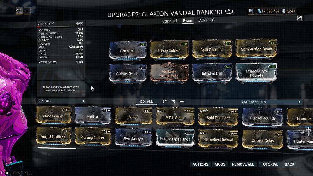 Glaxion Vandal Beam Build