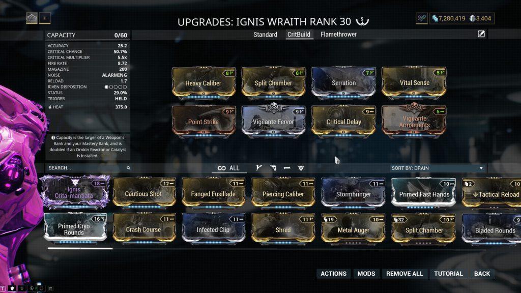 Ignis Wraith - The Critical Damage Build