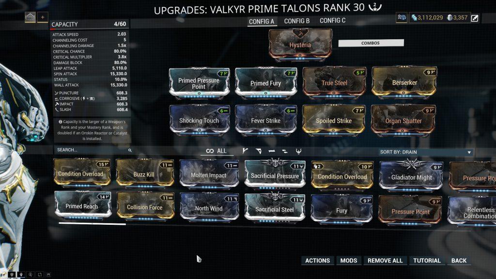 Valkyr Prime The Talons Build