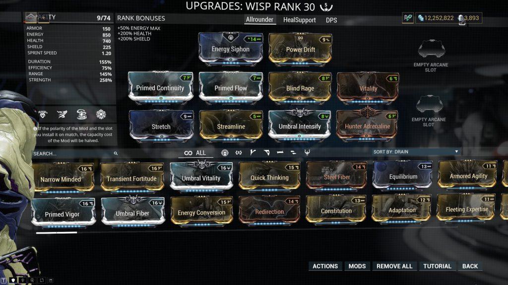 Wisp - Allrounder Build