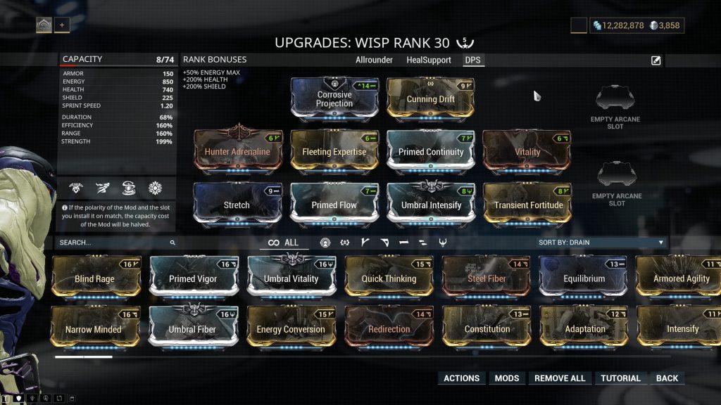 Wisp - DPS Build