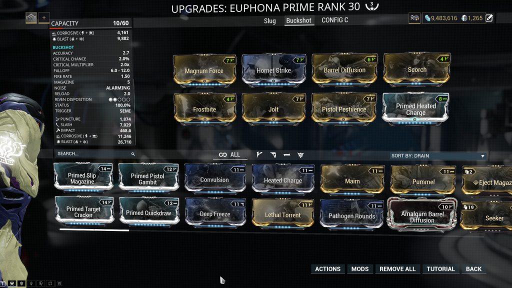 Euphona Prime Buckshot Mode Build
