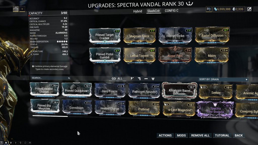 Critical Slash Spectra Vandal Build