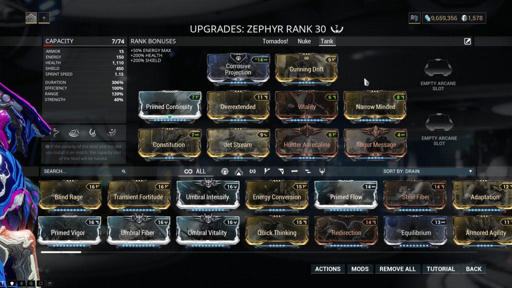 Zephyr Prime Tank Build