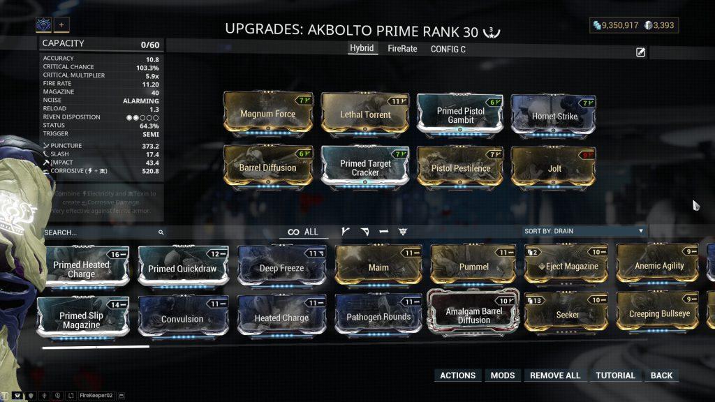 Akbolto Prime Hybrid Build