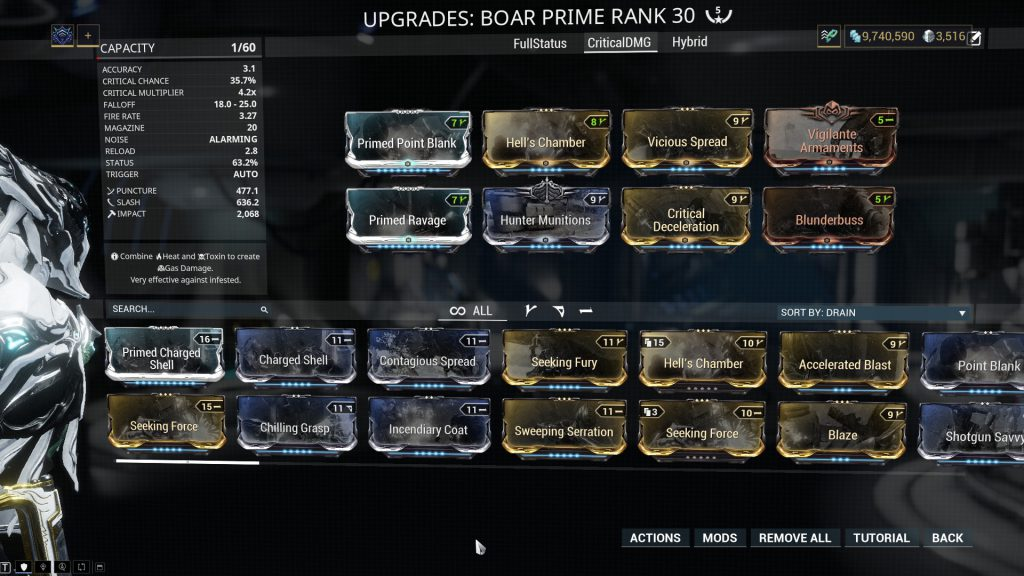 Boar Prime - The Critical Damage Build