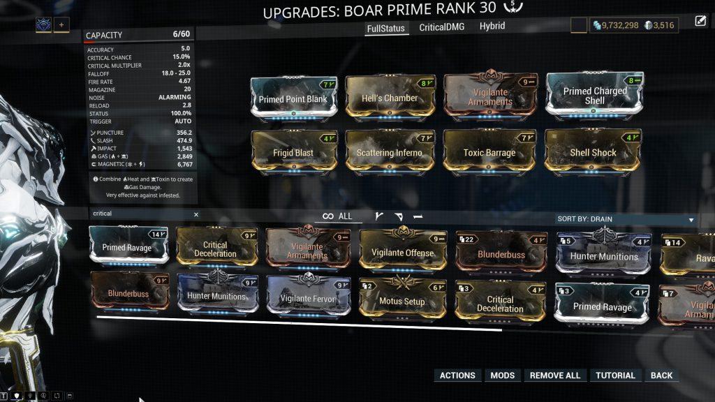 Full Status Boar Prime Build