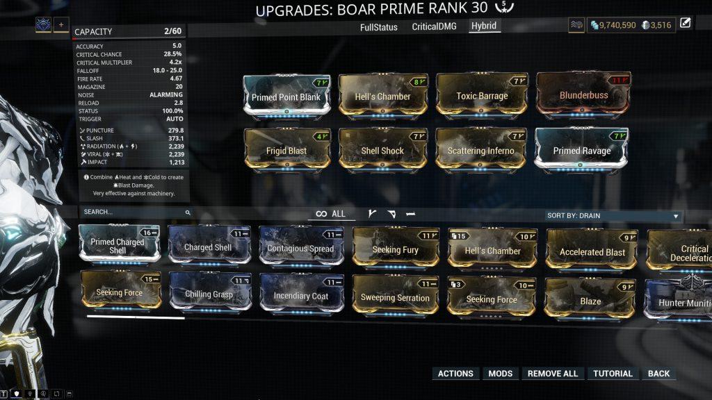 Hybrid Boar Prime Build