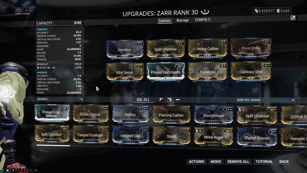 Zarr The Cannon Mode Build