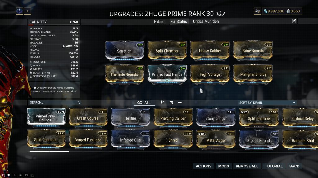Full Status Zhuge Prime Build