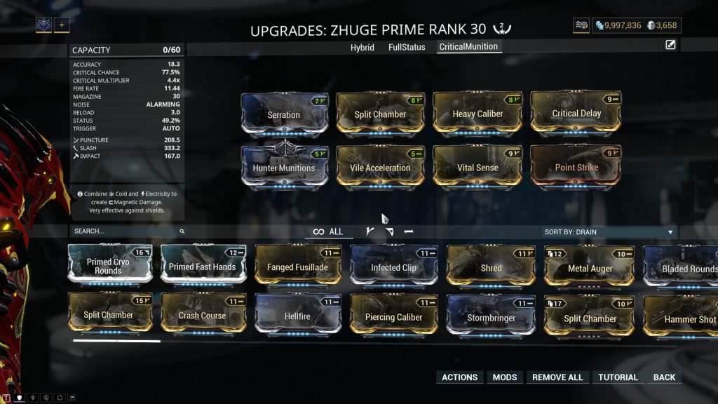 Zhuge Prime Hunter Munitions Build