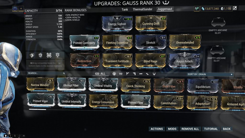 Gauss Juggernaut Build