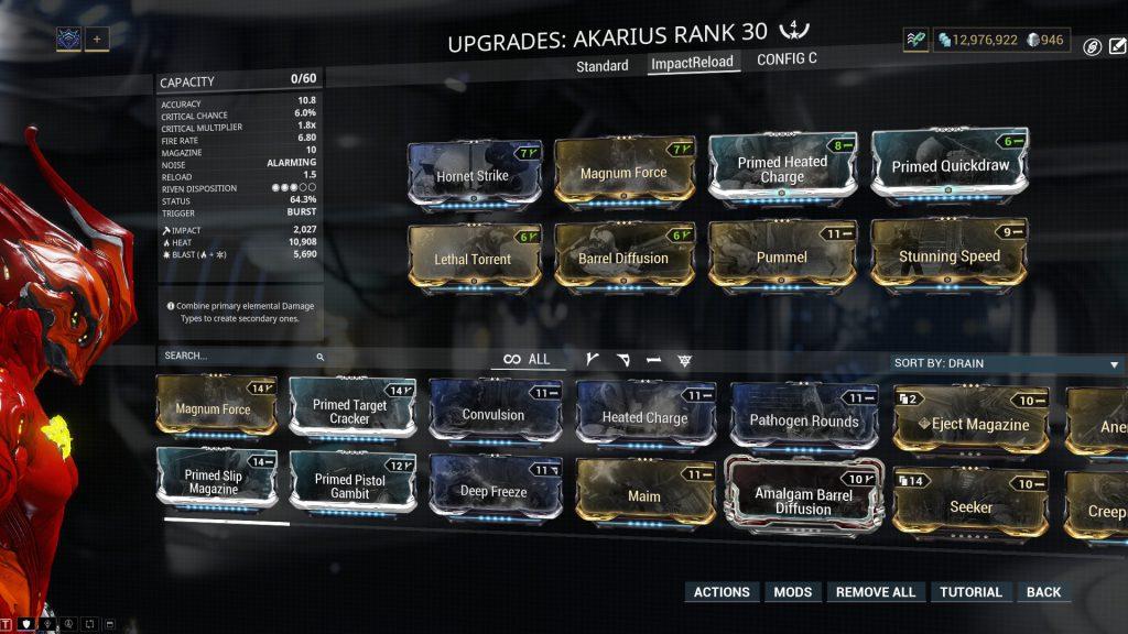 Fast Reload Impact Akarius Build
