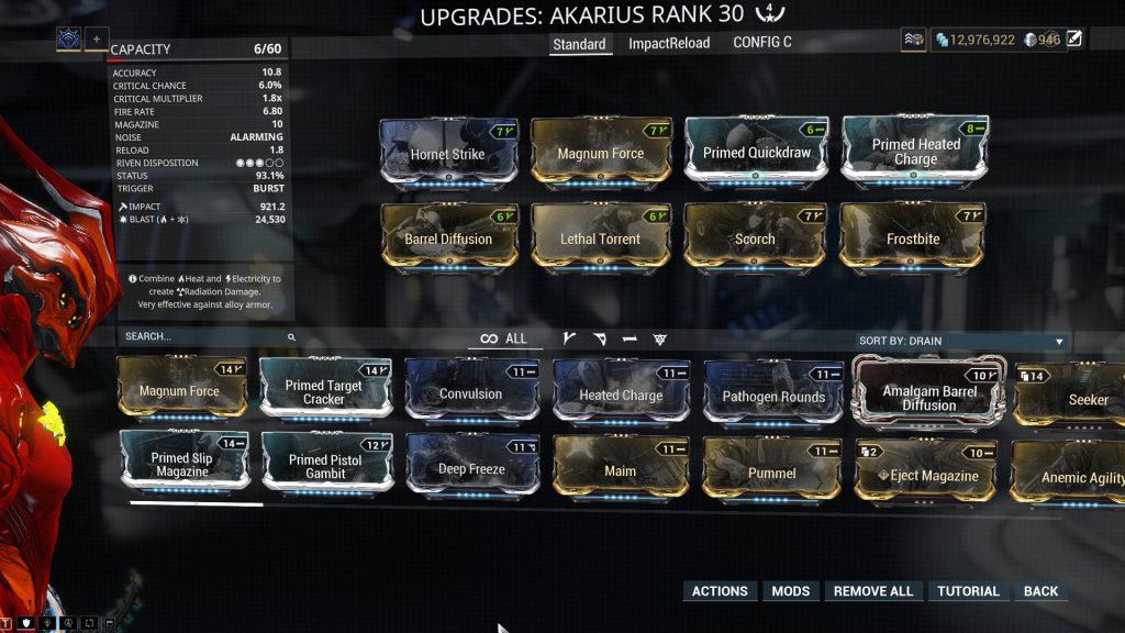 Standard Akarius Build