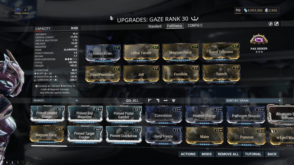 Full Status Gaze Build