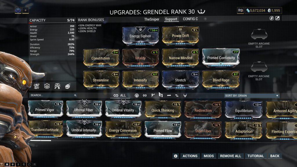 Grendel Support Build