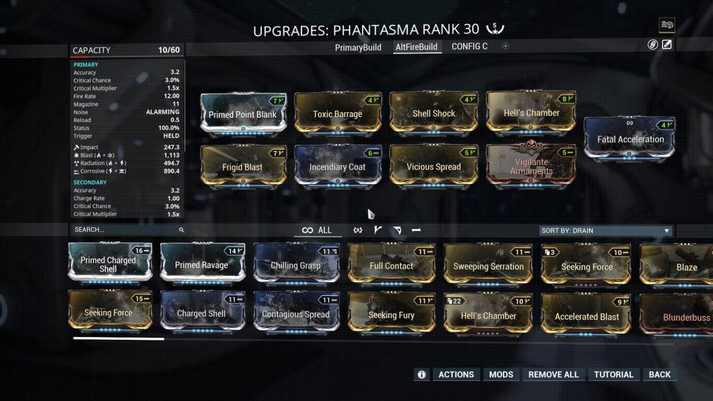 Phantasma Alt Fire Mode Build