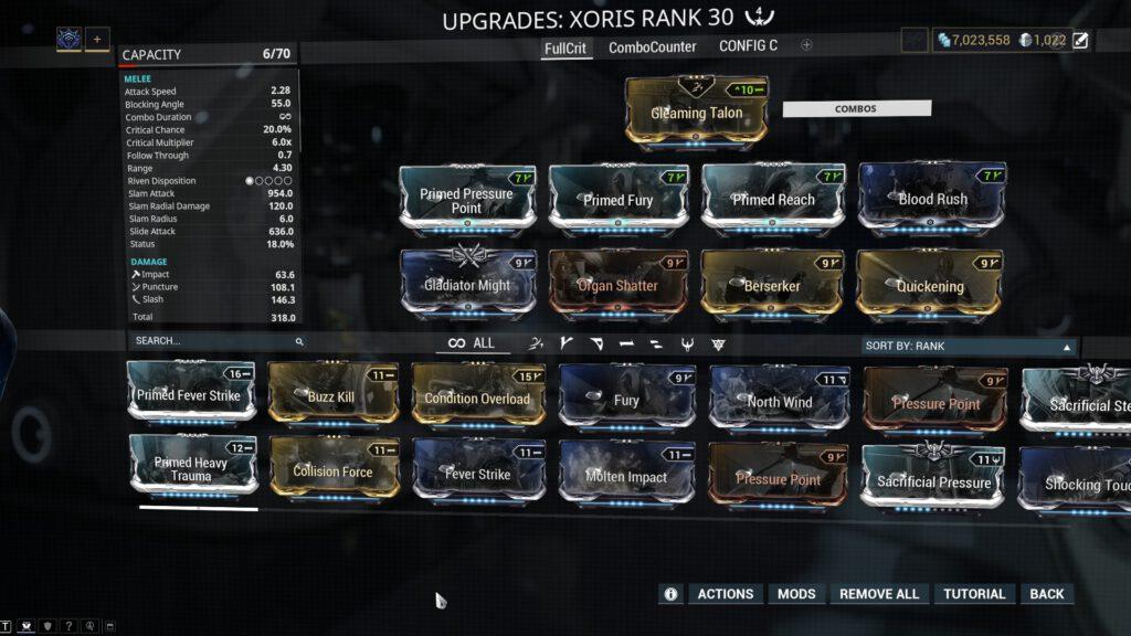 Xoris Full Critical Build