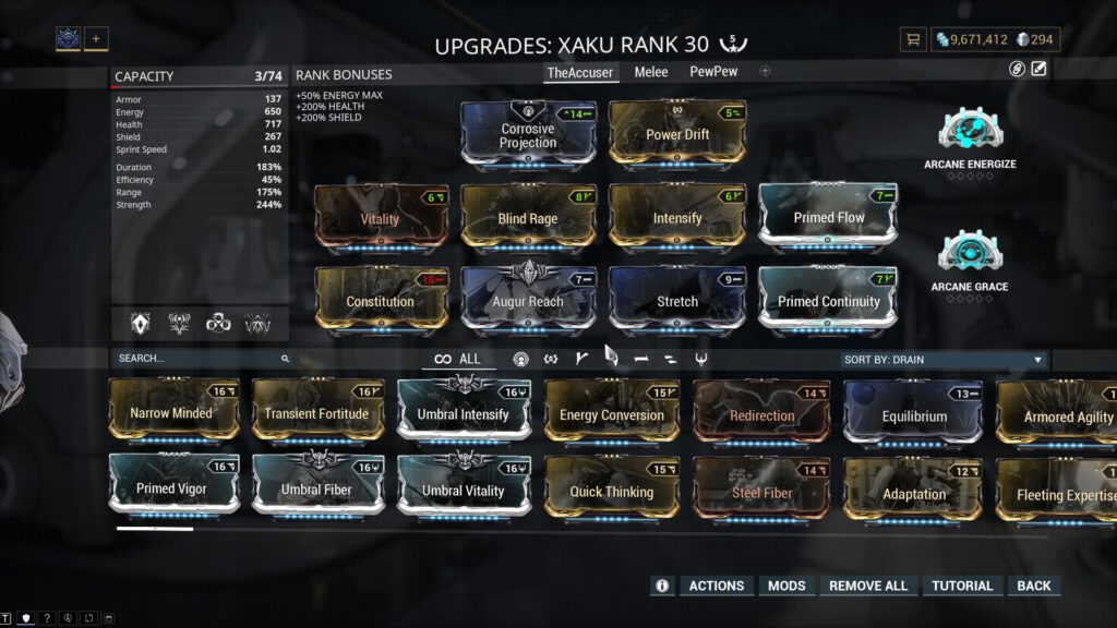 The Accuser Xaku Build