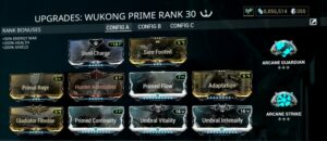 Best Wukong Prime build