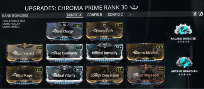 Umbral Chroma Prime Build