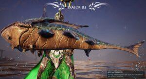 Different fish types in Warframe - Tralok