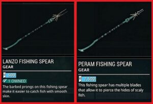 Where to buy fisihing spears in warframe